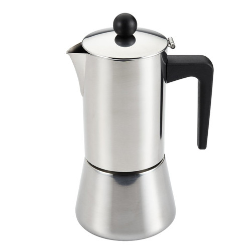 BonJour Coffee Stainless Steel Stovetop Espresso Maker, 48-Ounce