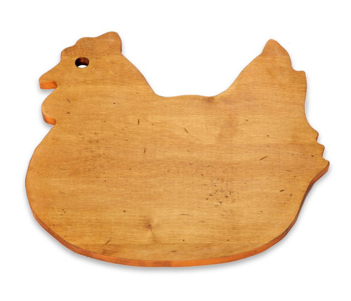 J.K. Adams 12-1/2-Inch-by-11-1/2-Inch Solid Maple Wood Cutting Board, Hen-Shaped