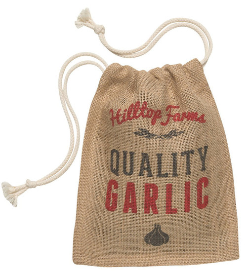 Now Designs Burlap Garlic Sack