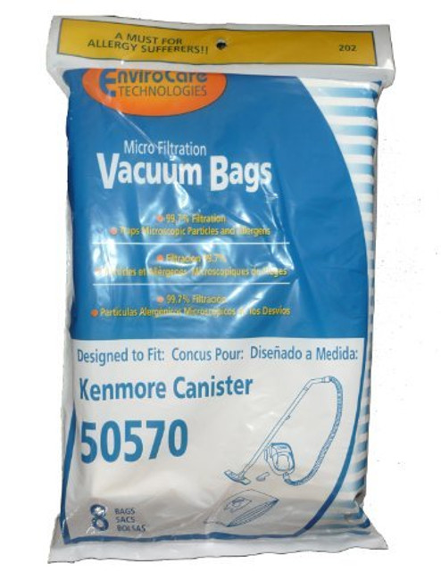 16 Kenmore I Ultra Care 50570 Sears Vacuum Bag, Canister Vacuum Cleaners, 609315, Replaces Sears 20-50570,