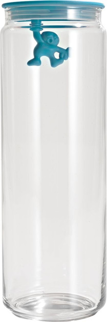 A di Alessi Gianni 8-1/2-Cup Glass Jar, Aqua Blue