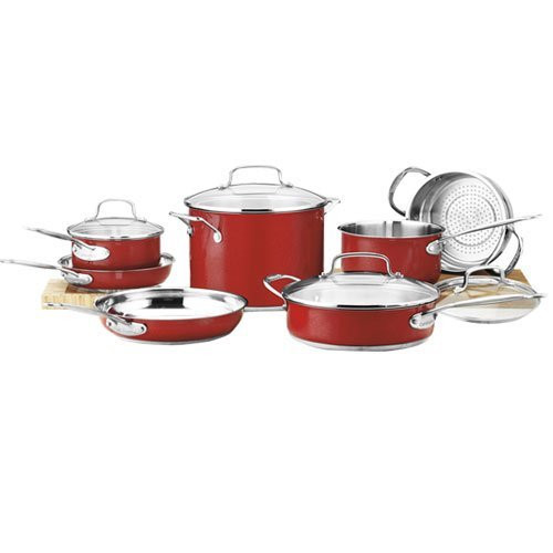 Cuisinart Chef's Classic Stainless Cookware-Metallic Red