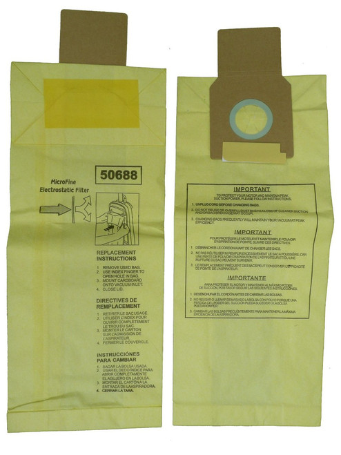 12 Kenmore Sears 50688/50690 U Vacuum Bags, Upright, Canister, Panasonic U-2, Miele Z, Sanyo PU-1 Vacuum Cleaners, MC-11