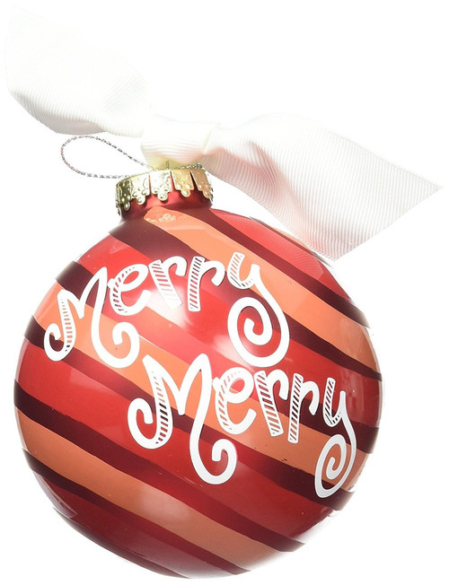 Coton Colors Merry Mint Glass Ornament