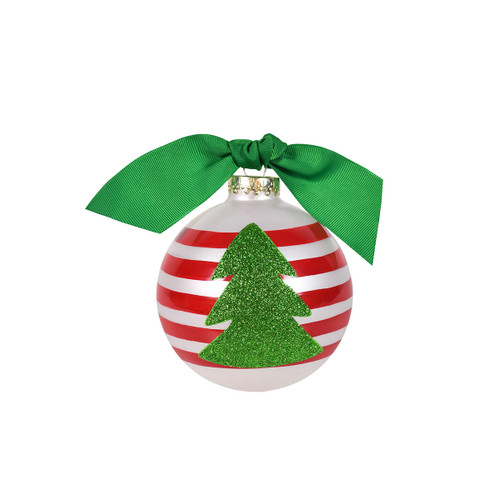 Coton Colors Glitter Tree Glass Ornament