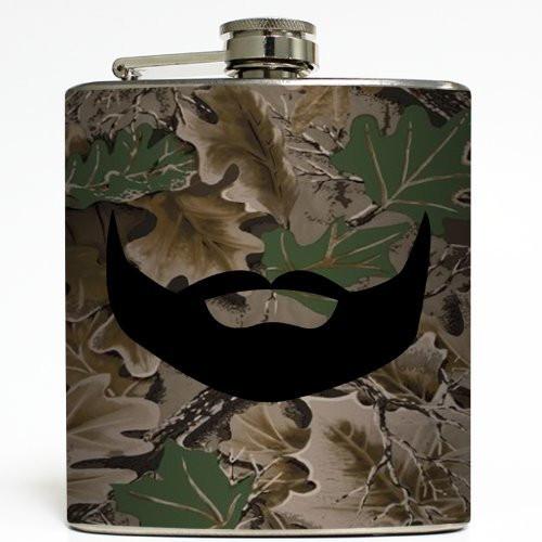 Beard Hunter - Liquid Courage Flasks - 6 oz. Stainless Steel Flask