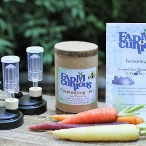 FARMcurious - Mason Jar Fermenting Kit - Mold Free - 2 pack - Black