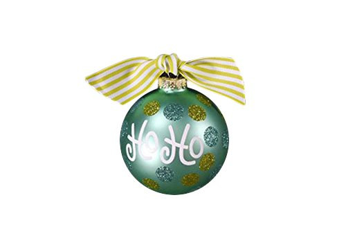 Coton Colors Ho Ho Dot Glass Ornament