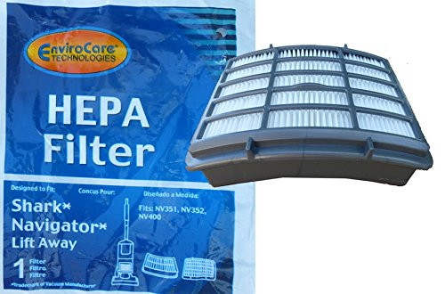 Shark NV350 HEPA Filter Fits: Shark Navigator Lift-Away models NV351, NV352, NV355, NV356, NV356E, NV357; Compatible wit