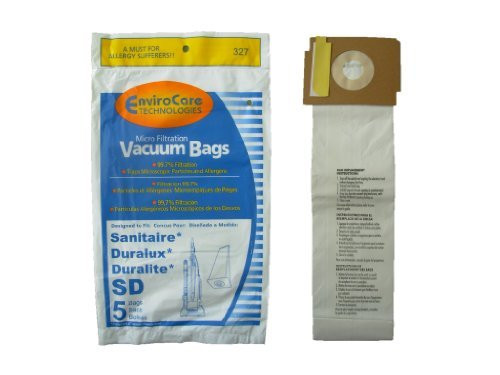 10 Sanitaire Sd Micro with Closure Vacuum Bags, Electrolux, Eureka, Duralux Vacuum Cleaners, 63262, SD - 63262, Commerci