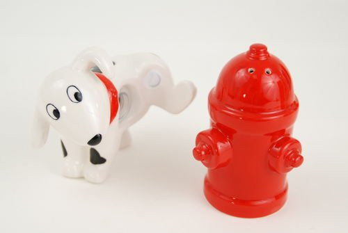 Dalmatian with Hydrant Salt & Pepper Shaker Set By 180 Degrees