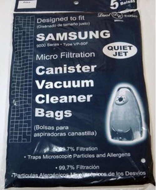Samsung Canister Quiet Jet & Quiet Storm Series 9000 Bags Dust Care Brand (5 bags)