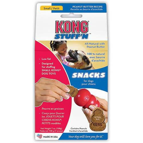 KONG Stuff'N Snacks, Peanut Butter, 7-Ounce, Small