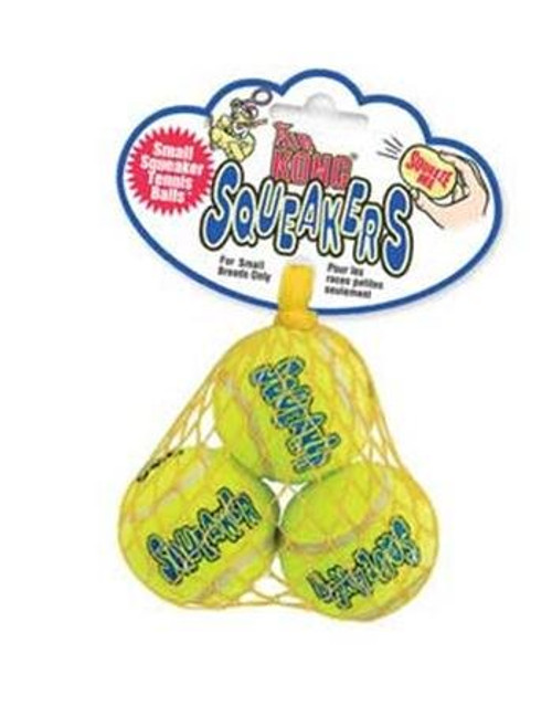 KONG Squeaker Tennis Balls, X-Small Dog Toy, 3-Pack