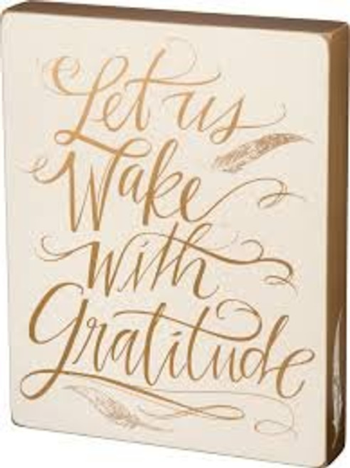 Primitives by Kathy #28394 - Box Sign - Let Us Wake