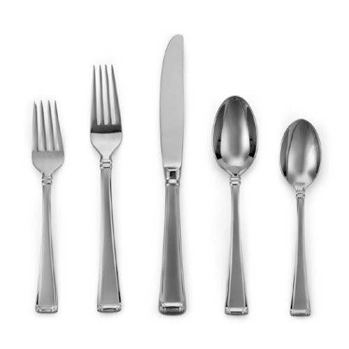 Gorham Column Frosted Stainless Flatware 5-Piece Place Setting, Service for 1