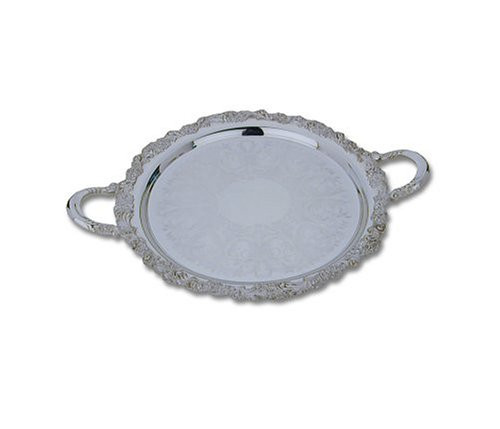 Reed & Barton Sheffield Collection 15-Inch Silver-plated Burgundy Round Tray