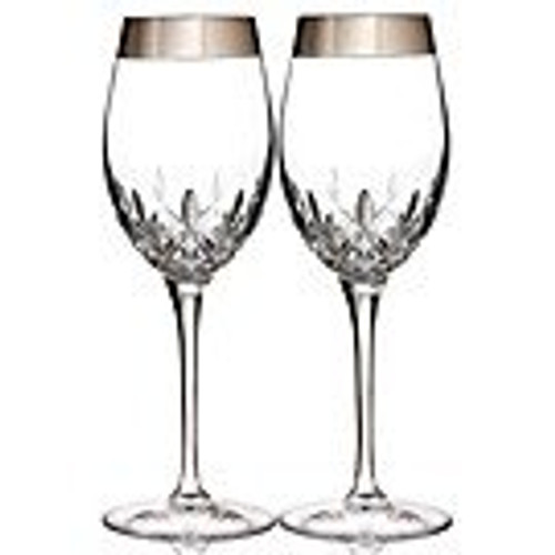 Lismore Essence Platinum (Wide Band) Wine, Pair