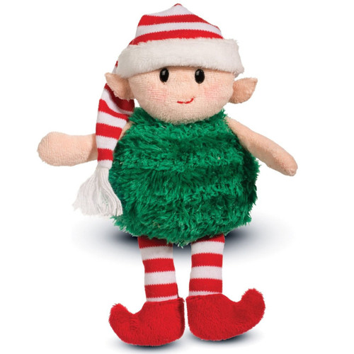 Andro Puff Elf 8 inch - Holiday Stuffed Animal by Douglas Cuddle Toys (692)