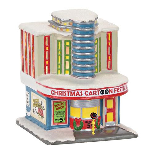 Department 56 Peanuts Village Pine Crest Cinema Decorative Model