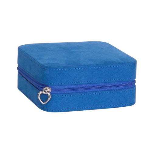 Mele & Co. Cagney Plush Fabric Travel Jewelry Box, Royal Blue