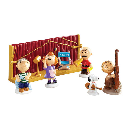 Department 56 Peanuts Christmas Getting Ready for Xmas Ornaments, Set of 8