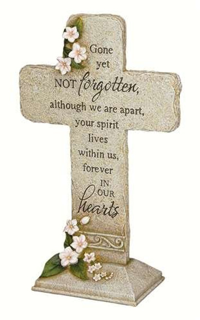 Carson Home Accents Peaceful Reflections Garden Marker, 11.75-Inch High, Hearts Cross