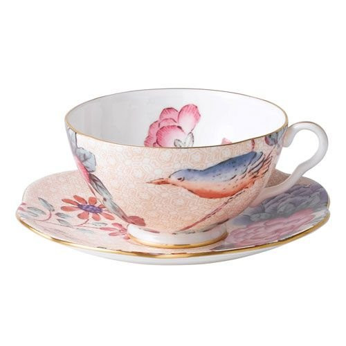 Wedgwood 5C106805130 Cuckoo Peach Teacup and Saucer Set 5C106805130