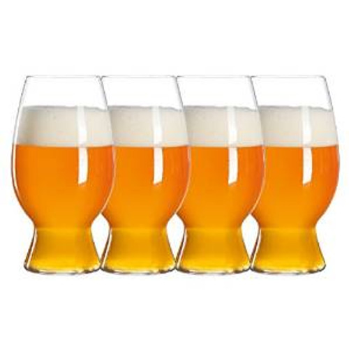 Spiegelau 4991383 Craft Witbier Beer Glasses (Set of 4), Clear