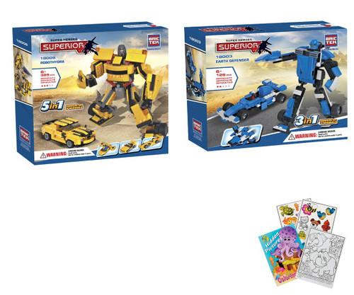 Brictek Heroes 5 in 1 Robothydra Building Kit