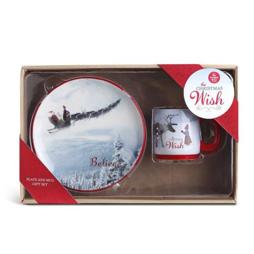 The Christmas Wish Plate and Mug Snack Set (Set of 2)