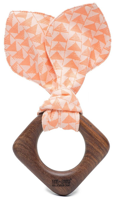Finn + Emma | Teething Ears | Baby Girl | Triangles | 100% Organic & Eco-Friendly | Made in India