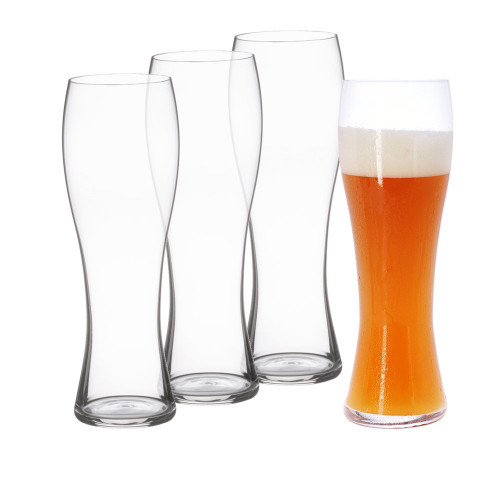 Spiegelau 4991975 Classics Hefeweizen Beer Glasses (Set of 4), Clear