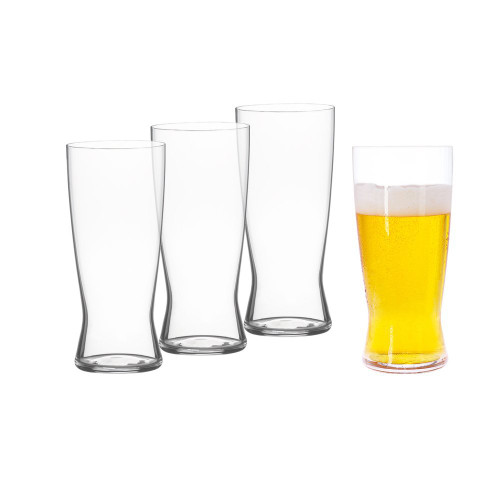 Spiegelau 4991971 Classics Lager Beer Glasses (Set of 4), Clear