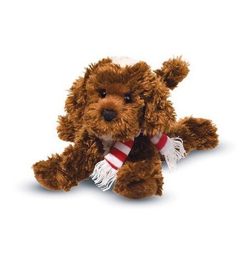 Bosco Chocolate Labradoodle with Scarf by Douglas Cuddle Toys (3993C)