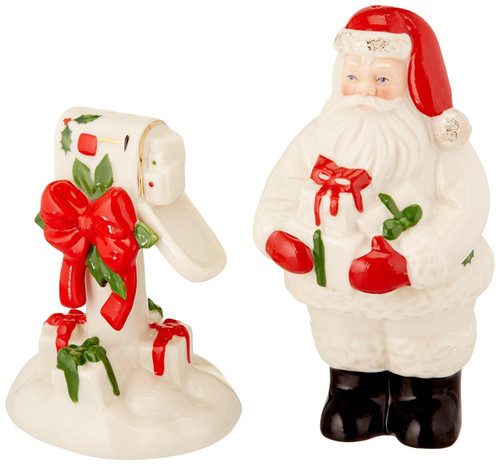 Lenox Countdown to Christmas Salt and Pepper Shaker Set, Ivory
