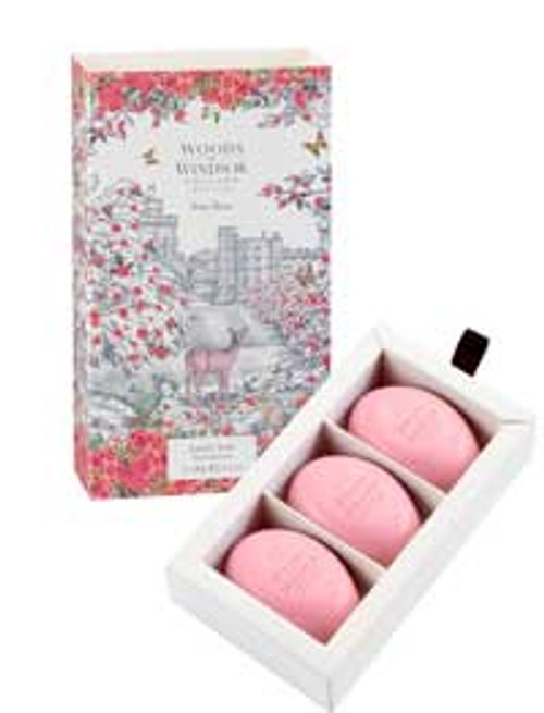 Woods of Windsor True Rose Fine English Soap (Box of 3) 2.1ozea Bars