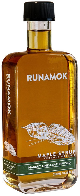 Runamok Maple Syrup - Makrut Lime-Leaf Infused - 250mL