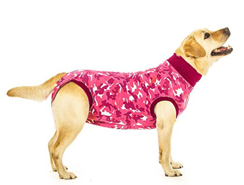 Suitical Recovery Suit for Dogs - Pink Camo - size Small+ (plus)