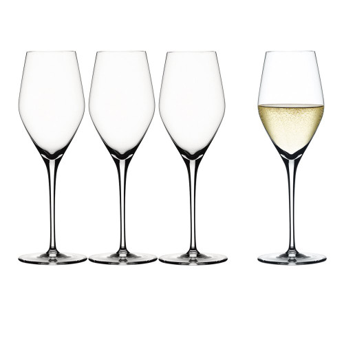 Spiegelau 4400185 Authentic Champagne Flute (Set of 4), Clear