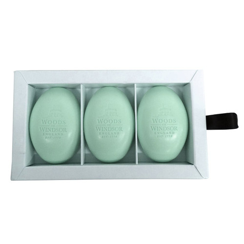 Woods of Windsor Lily of The Valley Fine English Soap (Box of 3) 2.1ozea Bars