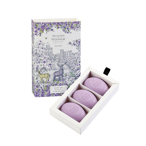Woods of Windsor Lavender Fine English Soap (Box of 3) 2.1ozea Bars