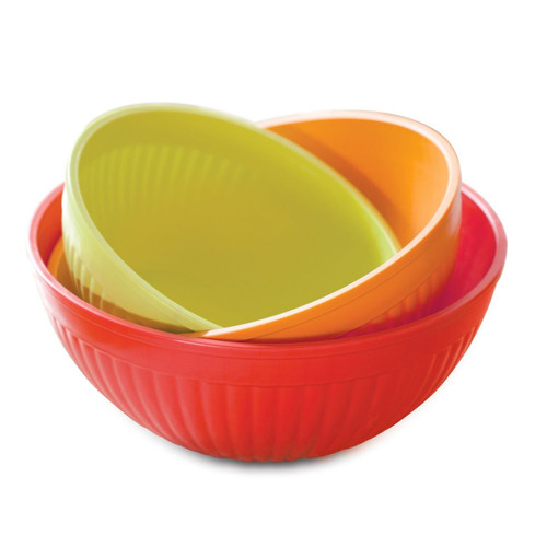 Nordic Ware Prep and Serve Mixing Bowl Set, 3-Piece