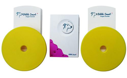 Pebble Smart Doggie Doorbell - Twin-Pack - Fuchsia Accent