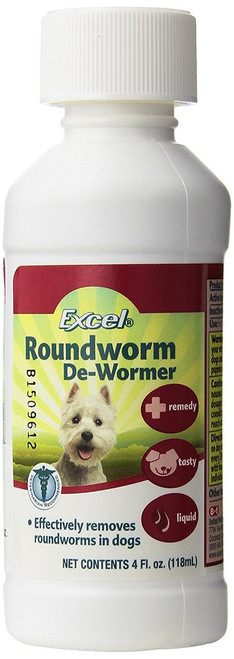 Excel Dog Roundworm De-Wormer, 4 oz. (J715A)
