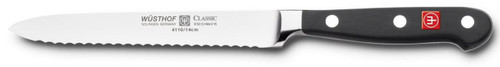 Wusthof Classic 4110 Serrated Utility Knife (Sausage knife ) 14 cm 5""