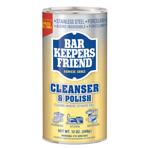 Bar Keepers Friend Cleanser and Polish 12 Ounce