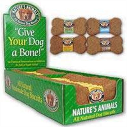 Natures Animals All Natural Dog Biscuit Display, Cheese, 4-Inch, 24/Pack