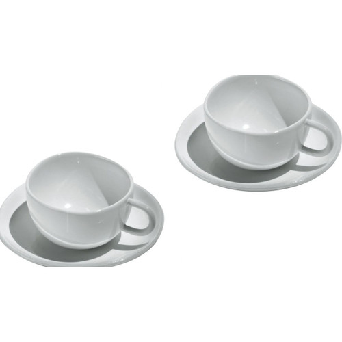 Alessi Fruit Basket Mocha Cup and Saucer (Set of 2)