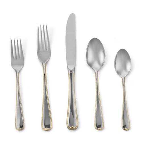 Gorham Golden Ribbon Edge 5-Piece Place Setting